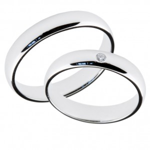sølv gull bryllup ringer